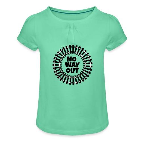no way out - Camiseta para niña con drapeado