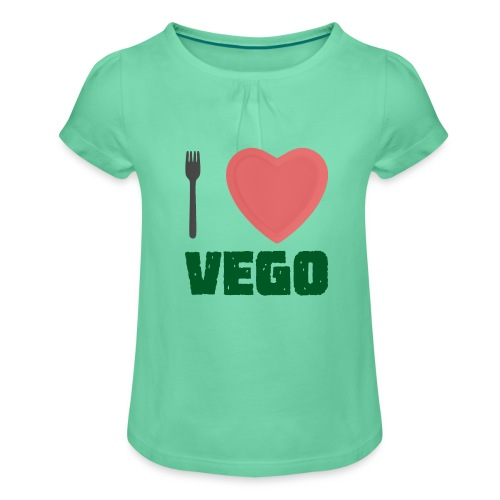 I love Vego - Clothes for vegetarians - Girl's T-Shirt with Ruffles