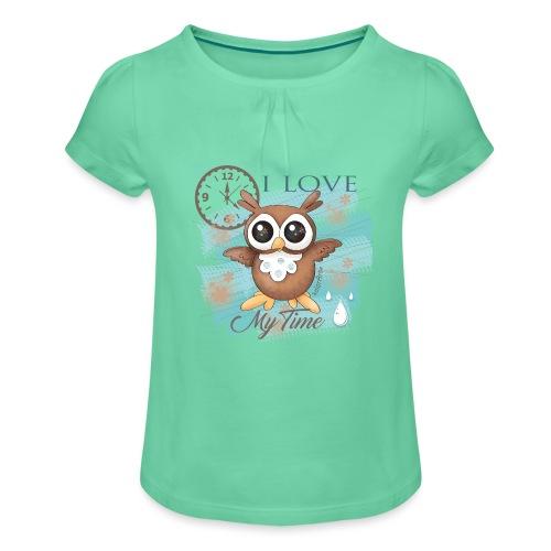 GUFO-E-TEMPO - Maglietta da ragazza con arricciatura