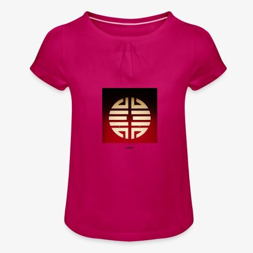 SIGN #01 - Mädchen-T-Shirt mit Raffungen
