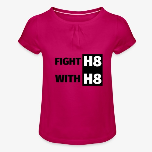 FIGHTH8 dark - Girl's T-Shirt with Ruffles