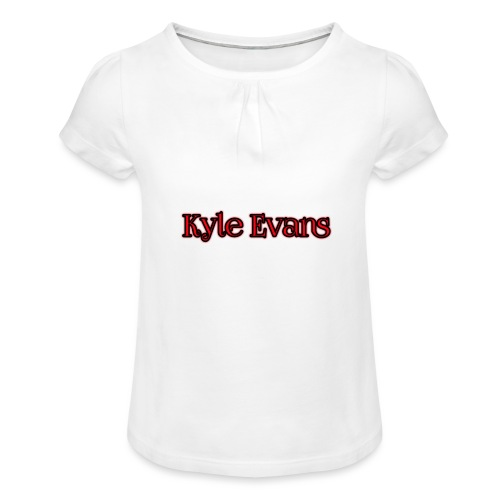 KYLE EVANS TEXT T-SHIRT - Girl's T-Shirt with Ruffles