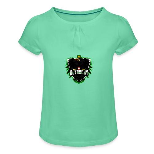 AUTarchy green - Mädchen-T-Shirt mit Raffungen