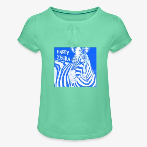 happy zebra - T-shirt à fronces au col Fille