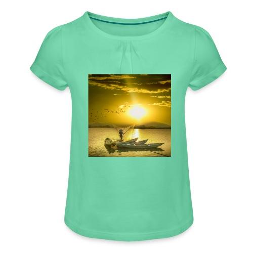 Tramonto - Maglietta da ragazza con arricciatura