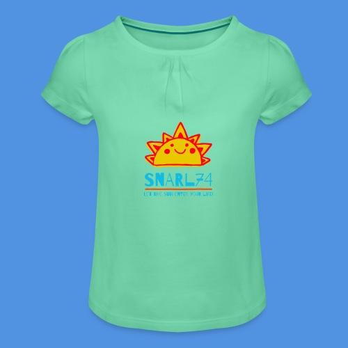 Sun - Maglietta da ragazza con arricciatura