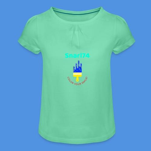 Paint - Maglietta da ragazza con arricciatura