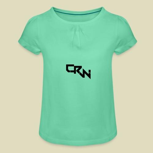 Logo - Mädchen-T-Shirt mit Raffungen