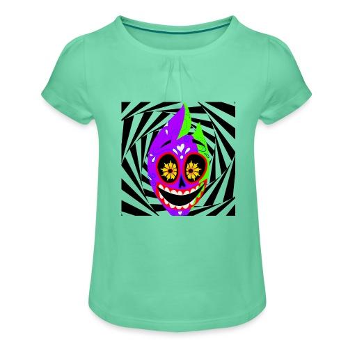 Halloween - Mädchen-T-Shirt mit Raffungen