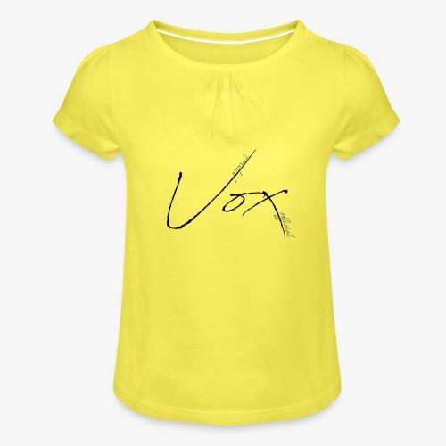 Logo Vox Paint - Maglietta da ragazza con arricciatura