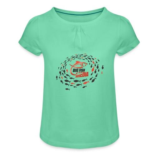 BFM Tribal Logo - Mädchen-T-Shirt mit Raffungen