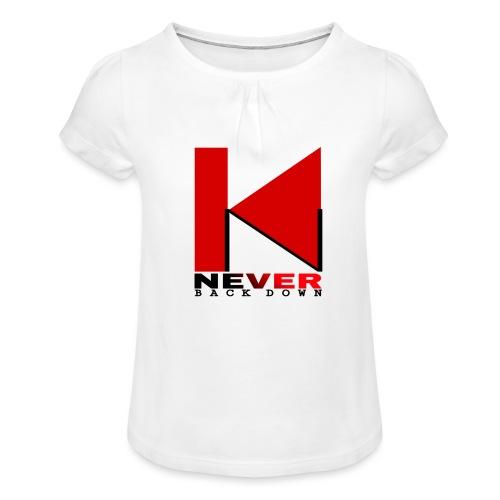 NEVER BACK DOWN - T-shirt à fronces au col Fille