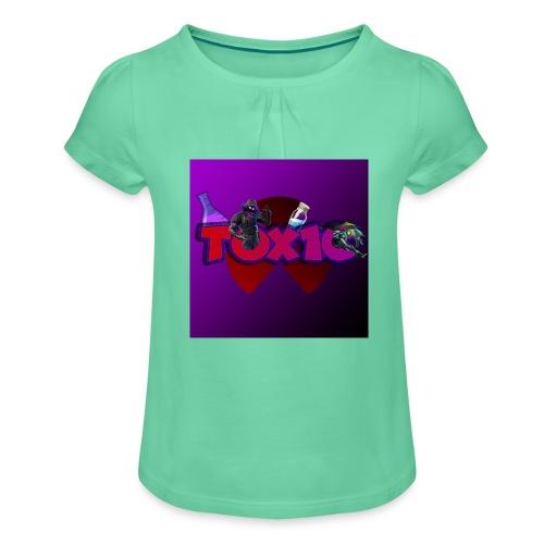 toxic paita - Tyttöjen t-paita, jossa rypytyksiä