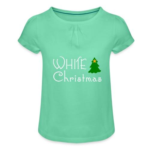 White Christmas - Girl's T-Shirt with Ruffles