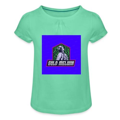 Guld Melwin - T-shirt med rynkning flicka