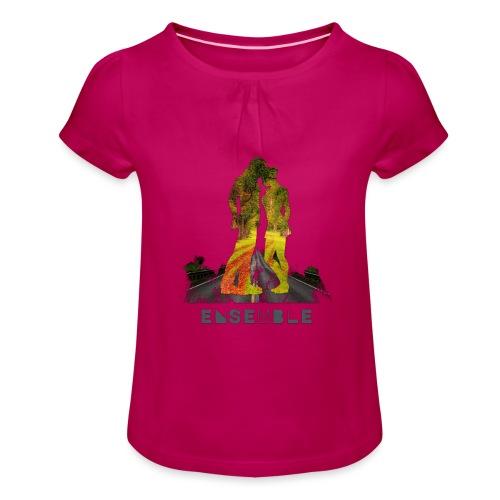 Ensemble - T-shirt à fronces au col Fille