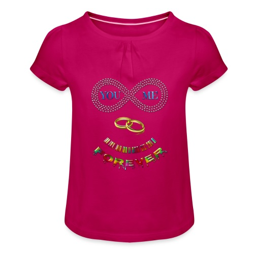 You and me Forever - T-shirt à fronces au col Fille