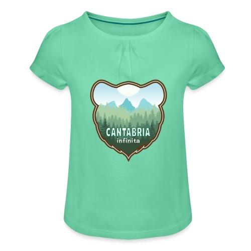 Oso en cantabria infinita - Camiseta para niña con drapeado