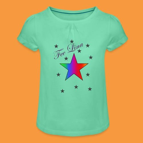 Fee Lina Star - Mädchen-T-Shirt mit Raffungen