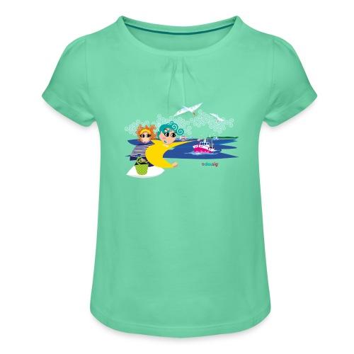 Dousig au Guilvinec - T-shirt à fronces au col Fille