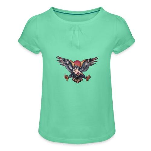 Aquila - Maglietta da ragazza con arricciatura