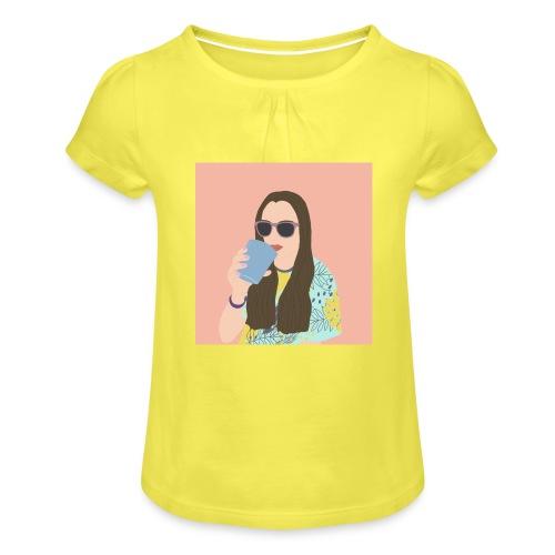 Gaia - Maglietta da ragazza con arricciatura
