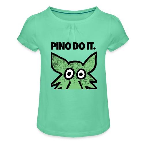 PINO DO IT - Maglietta da ragazza con arricciatura
