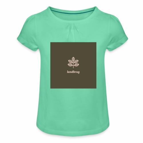 Landbrug - Pige T-shirt med flæser