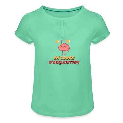 En cours d'acquisition - T-shirt à fronces au col Fille