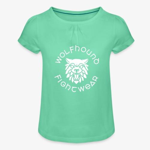 logo round w - Girl's T-Shirt with Ruffles