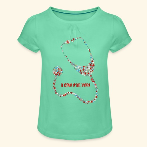 i will fix you stethoscope - Girl's T-Shirt with Ruffles