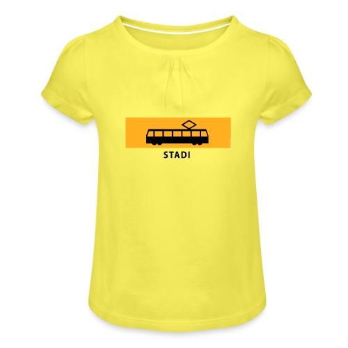 RATIKKA PYSÄKKI KYLTTI STADI T-paidat ja vaatteet - Tyttöjen t-paita, jossa rypytyksiä
