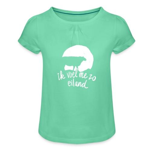 Eiland shirt - Meisjes-T-shirt met plooien