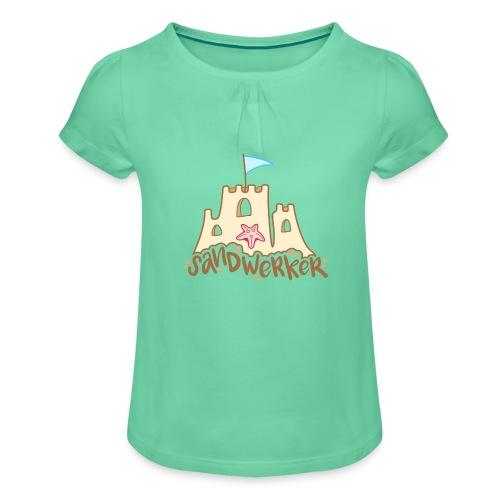 Sandwerker - Mädchen-T-Shirt mit Raffungen