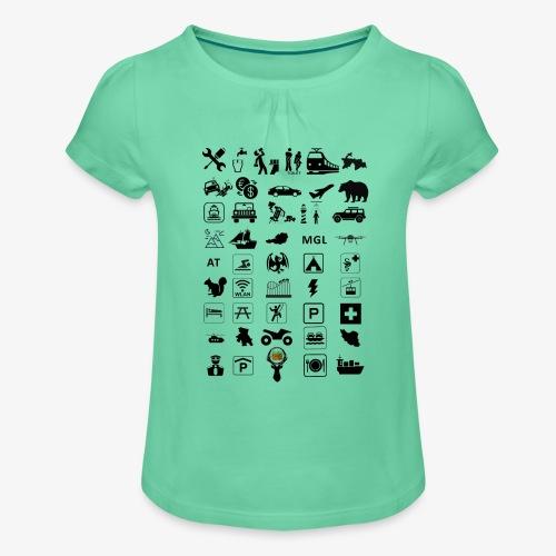 Where should I go now? - Mädchen-T-Shirt mit Raffungen