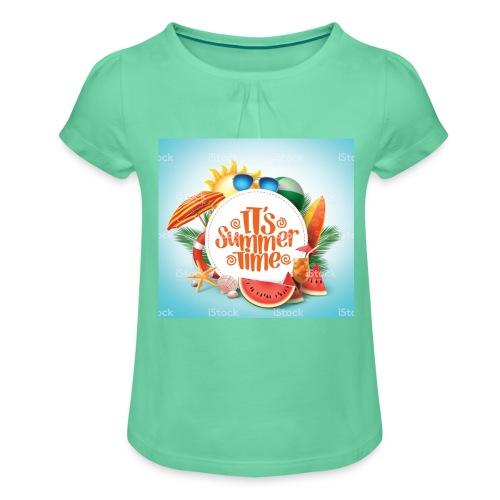 Barbaros - T-shirt med rynkning flicka