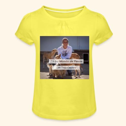 en un mundo de perros con borja capponi - Camiseta para niña con drapeado