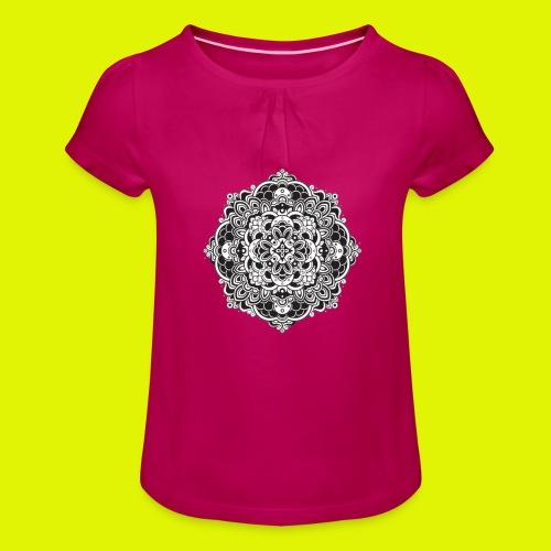 Mandala - Maglietta da ragazza con arricciatura