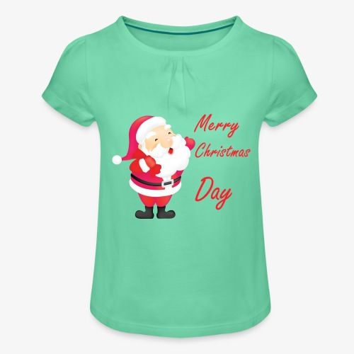Merry Christmas Day Collections - T-shirt à fronces au col Fille