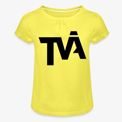 TVÅHUNDRA - T-shirt med rynkning flicka