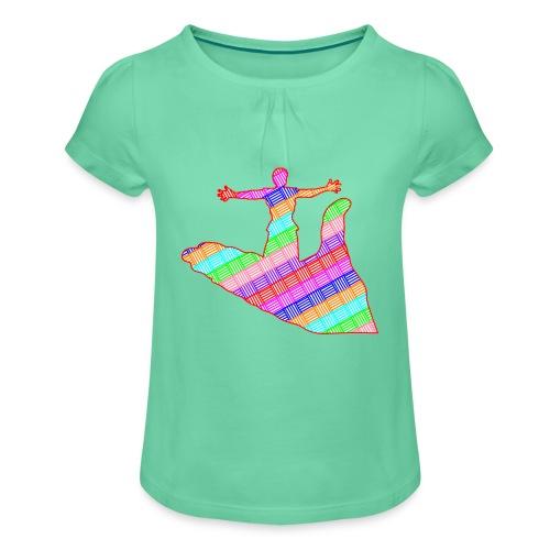 main - T-shirt à fronces au col Fille