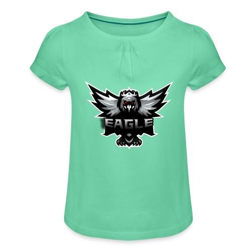 Eagle merch - Pige T-shirt med flæser