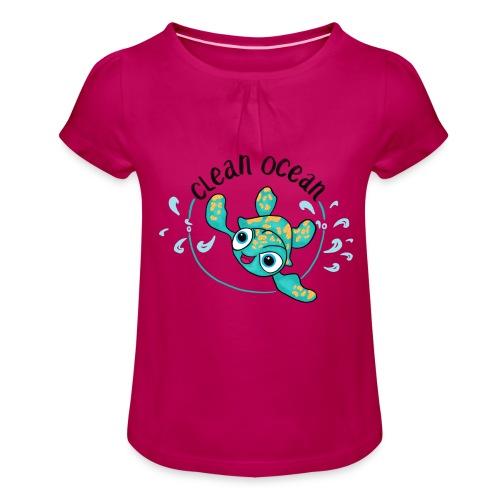 Clean Ocean - Girl's T-Shirt with Ruffles