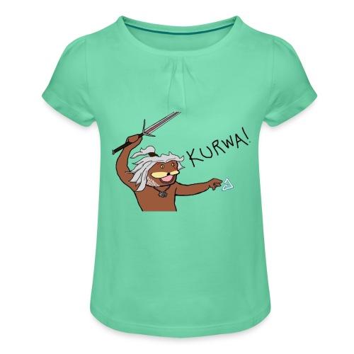 Noiduri - Tyttöjen t-paita, jossa rypytyksiä