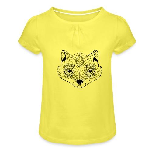 mandalafox - Tyttöjen t-paita, jossa rypytyksiä