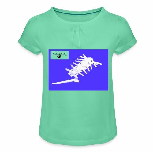Maus - Mädchen-T-Shirt mit Raffungen