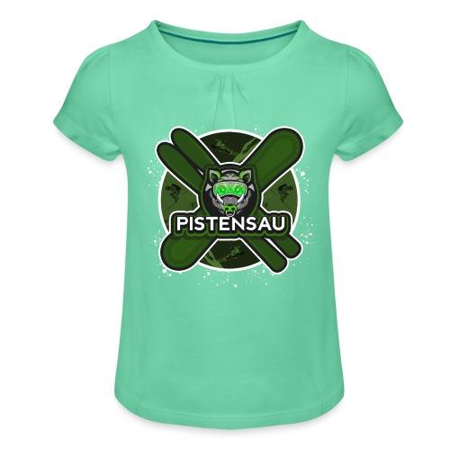 PistenSau NuClear - Mädchen-T-Shirt mit Raffungen