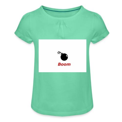Bomba - Koszulka dziewczęca z marszczeniami