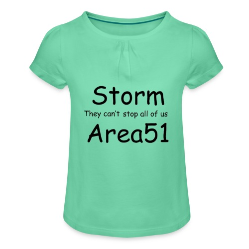 Storm Area 51 - Girl's T-Shirt with Ruffles