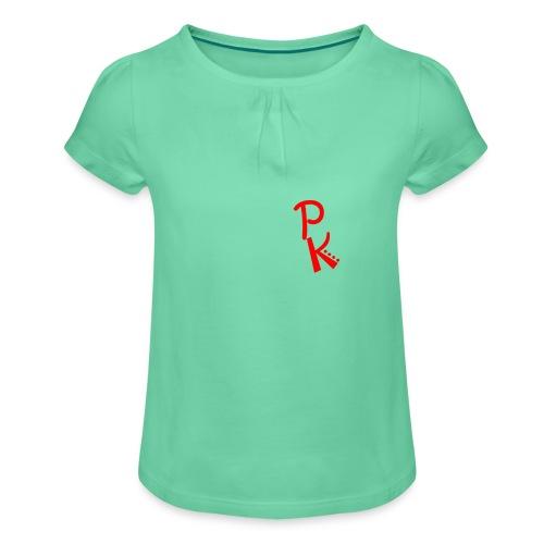 de pingkings - Meisjes-T-shirt met plooien
